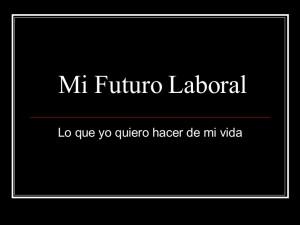 futuro laboral