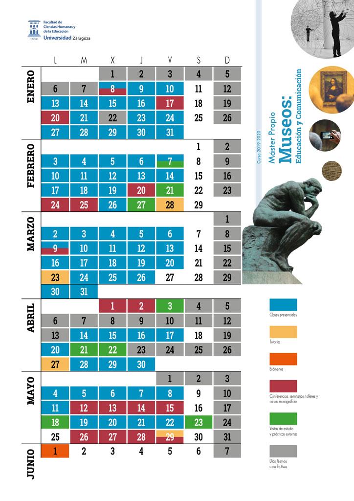 Calendario máster 2017-2018